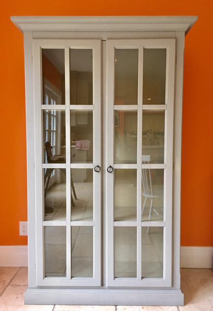 Pottery Barn Glass Door Cabinet  Chairish