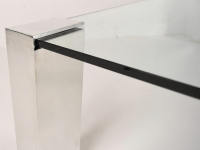 Mid-Century Modern Chrome & Glass Coffee Table | Chairish