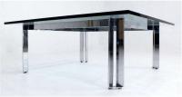 Milo Baughman Chrome & Glass Coffee Table | Chairish