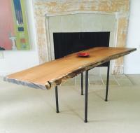 Live Edge Red Oak Coffee Table | Chairish