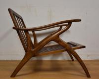 Mid-Century Modern Kagan Style Lounge Chair | Chairish