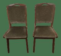 Green Velvet Upholstered Mid Century Modern Chairs - a ...