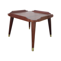 Mid Century Modern Square End Table | Chairish