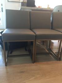 Restoration Hardware Rh Modern Emery Leather Side Chairs ...