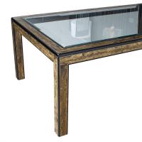 Bernhard Rohne Mastercraft Brass Dining Table | Chairish
