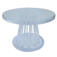 Mid-Century Modern Lucite Round Side Table | Chairish