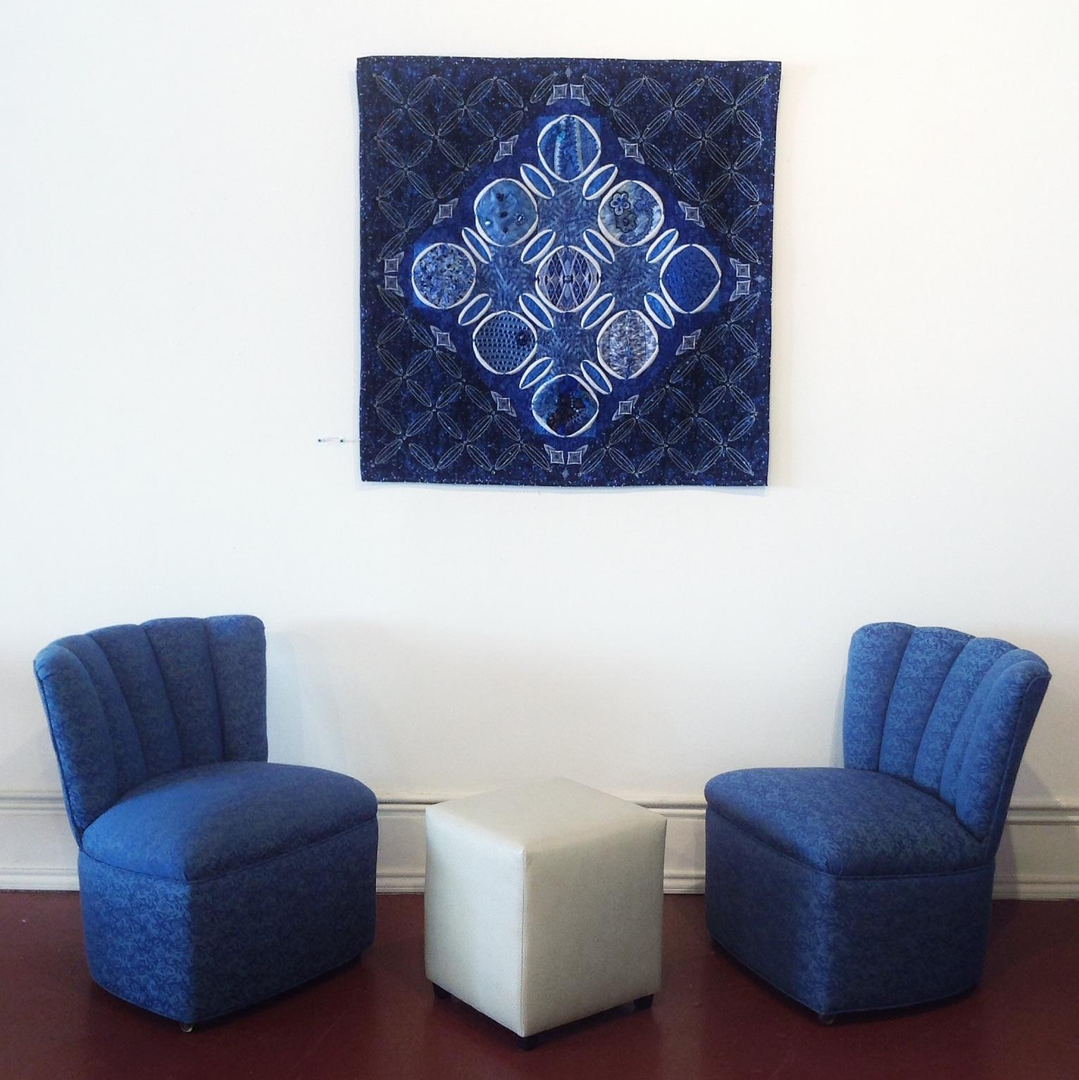 Blue Shell Back Slipper Chair  Chairish
