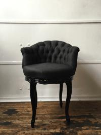Noir Tufted Swiveling Vanity Chair | Chairish