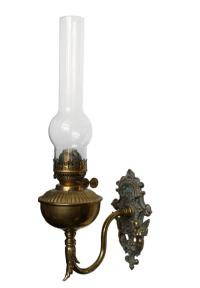 Brass Wall Bracket Oil Lamp | Chairish