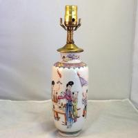 Vintage Porcelain Lamp. Asian