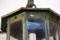 Steel Exterior Lantern Sconces - A Pair | Chairish