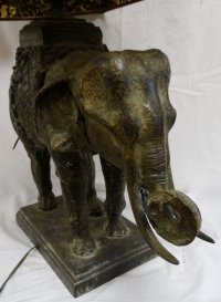 Antique 1920s Bronze Elephant Lamp | Chairish