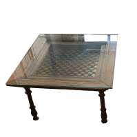 Spanish Rustic Glass Top Coffee Tables - Pair | Chairish