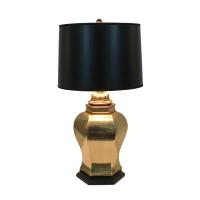 Vintage Asian Cast Brass Ginger Jar Lamp | Chairish