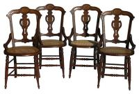 French Art Nouveau Style Chairs W/Cane Seats - S/4 | Chairish