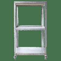 Industrial Metal Rolling Cart | Chairish