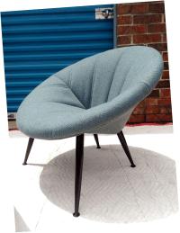 Hoop Chair & Ottoman | Chairish