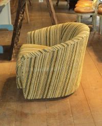 Mid Century Modern Multi Color Swivel Club Barrel Chair ...