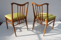 Mid Century Spindle Back Dining Chairs - S/4 | Chairish