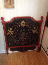 Vintage Boho Style Twin Bed | Chairish