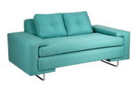 Modern Turquoise Rico Loveseat | Chairish