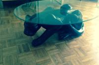 Black Panther Coffee Table Circa 1970's | Chairish