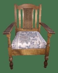 Antique Oak Mission Style Chair | Chairish