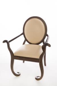 Sculptural Oak Mid-Century Arm Chairs - A Pair | Chairish