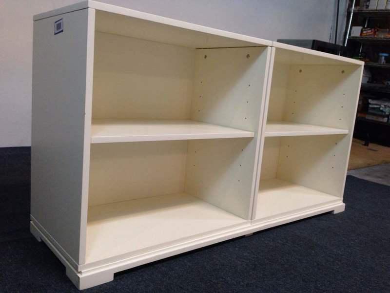 West Elm Contemporary White Laminate Wood Bookcase Chairish