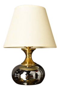 Luxury Small Mid-Century Brass & Chrome Table Lamp | DECASO
