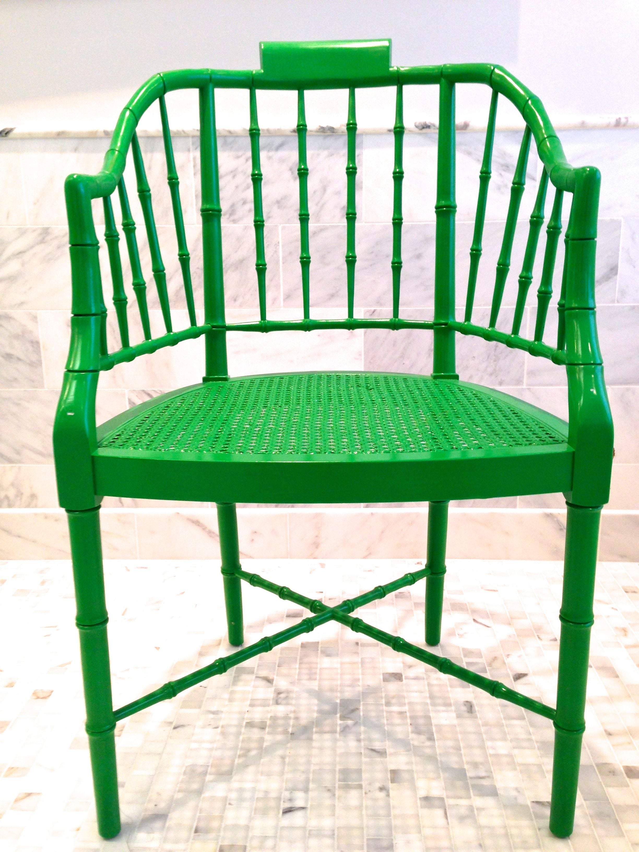 Vintage Baker Furniture Bamboo Chippendale Chairs  Chairish