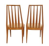Mid-Century Widdicomb Dining Set- 6 Chairs, 3 Leaves ...