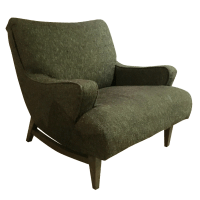Mid-Century Modern Upholstered Lounge Chair | Chairish