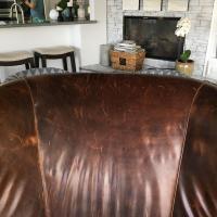 Restoration Hardware Drake Barrel Back Chair   Chairish