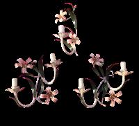 Vintage Tole Sconces - Set of 3 | Chairish