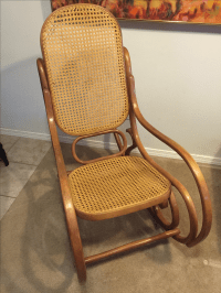 Vintage Mid-Century Thonet Style Bentwood Rocking Chair ...