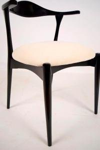White & Black Scandinavian Dining Chairs - Set of 6 | Chairish