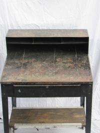 Industrial Metal Standing Desk | Chairish