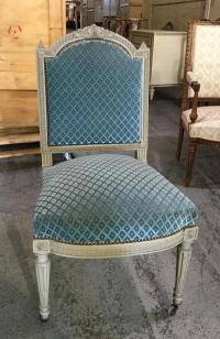 Louis XVI Velvet Chairs - Set of 4   Chairish