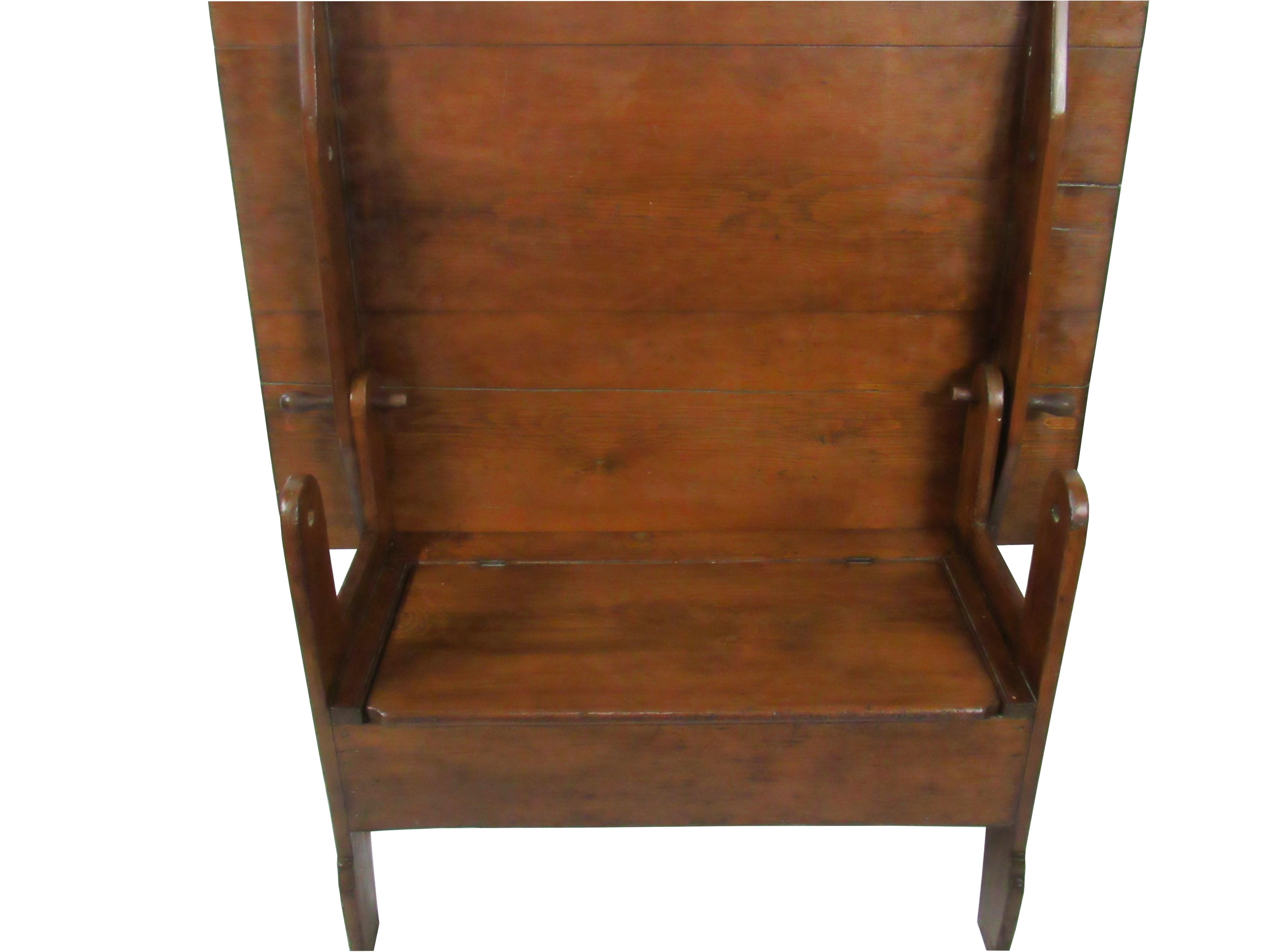 Antique Farmhouse Trestle Tilt Top Table Bench Chairish