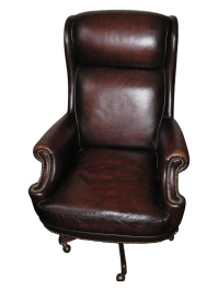Hooker Leather Office Chair | Chairish