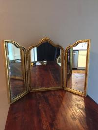 Antique Tri Fold Vanity Mirror | Antique Furniture