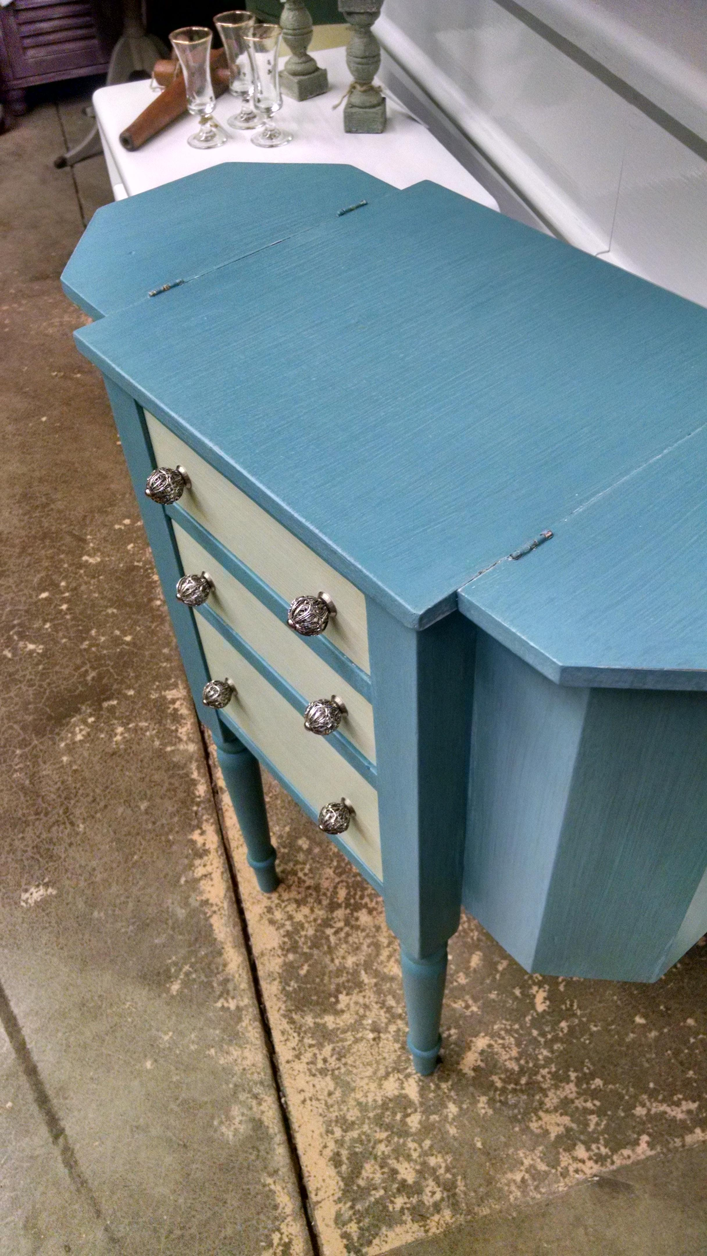Vintage Sewing Cabinet Table  Chairish