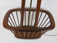Mid-Century Danish Modern Teak Floor Lamp Magazine Rack ...