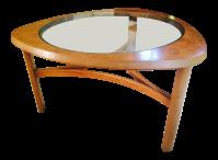 Mid-Century Atomic Triangular Coffee Table   Chairish