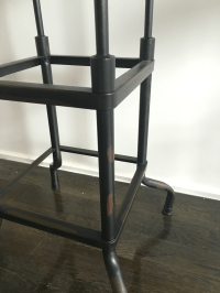 Restoration Hardware Industrial Bar Stools - Pair | Chairish