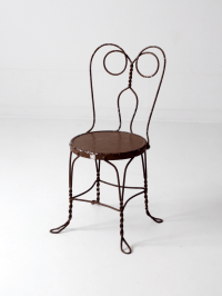 Vintage Ice Cream Parlor Chair | Chairish