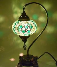 Handmade Turkish Mosaic Desk Lamp | Chairish