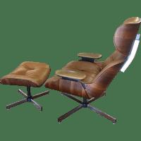 Selig Eames Style Chair & Ottoman | Chairish