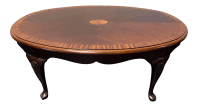 Drexel Banded Inlaid Mahogany Queen Anne Coffee Table ...
